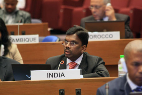 A Duraisamy, delegate from India