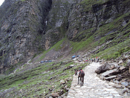 The route to Hemkund Sahib before the floods