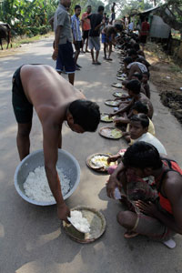 Odisha government claims it has been able to provide relief material to the four million flood-affected people