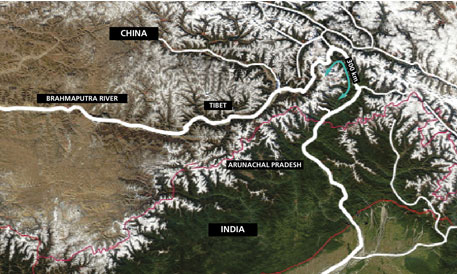 India fears that China will divert water in the 1,700 kilometre stretch of the Yarlung Tsangpo, as the Brahmaputra is known in the upper reaches in China