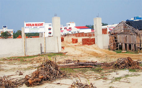 About 40 more resorts are being built illegally on the Mandarmani beach