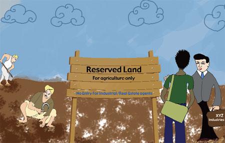 Now farmland reservation