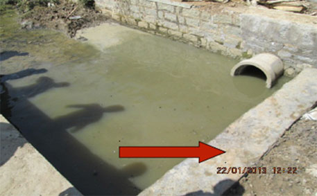 Barrage on Kaluve drain to divert raw sewage