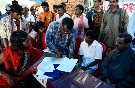 Kesarpadi residents gave thumb impressions only after their rights over the entire Niyamgiri hills were recorded in the resolution
