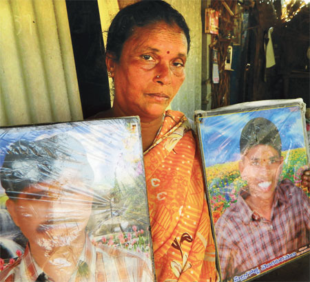 Due to crop loss and increasing debt, Bagamma's farmer husband and her speech- and hearing-impaired son killed themselves