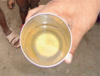 Polutte water