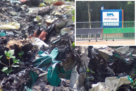Dipped Products PLC illegally dumps waste at Weliweriya village in Sri Lanka's Western Province