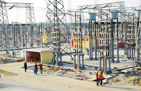 South Asia's latest inter-nation power grid at Bheramara, Bangladesh