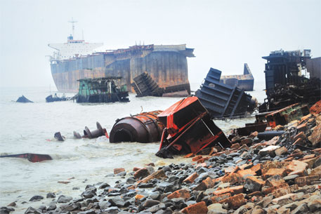 Ship-breaking yard at Sitakunda, Bangladesh