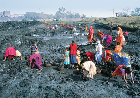 About 90 per cent of India's coal is found in tribal areas where more than 50 per cent of the population lives below the poverty line