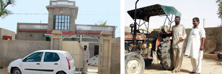 Om Prakash in Rajasthan have built concrete houses and bought cars