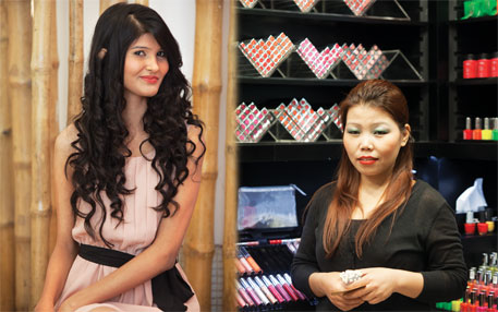 Pallavi Saxena and Linda Pannei (right) spend about `5,000 a month on branded cosmetics. But they are not necessarily safe
