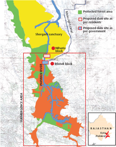 Source: Irrigation department, Kota division. Map not to scale