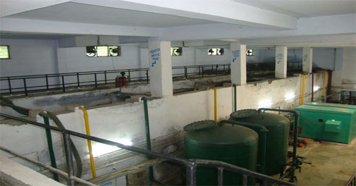 Waste water treatment plant at GPRA complex, New Motibagh, New Delhi