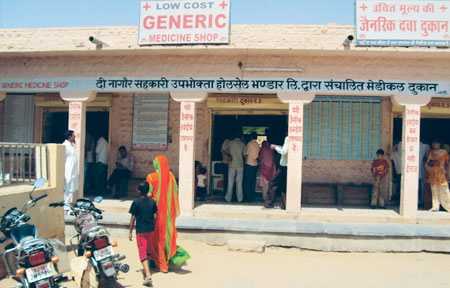 Nagaur district in Rajasthan has a number of generic drugs stores which are giving private shops a run for their money (photo by Ankur Paliwal)