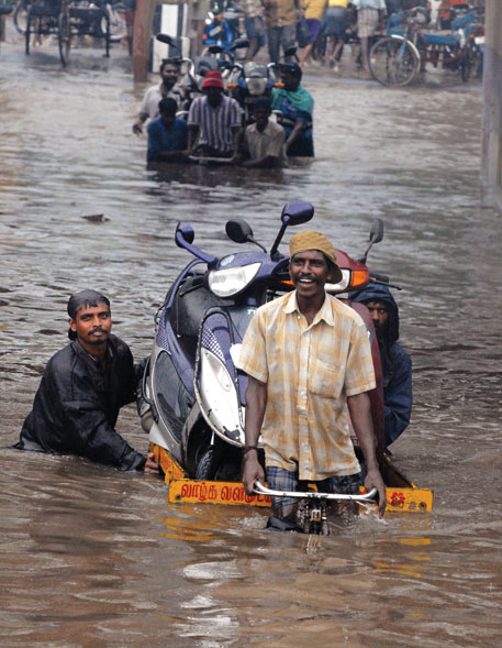 Flood in Chennai the same year affected more than 500,000 people