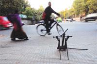 Cycle beats car