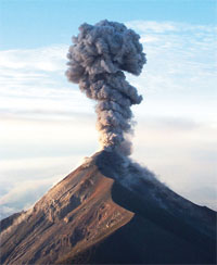 Volcanoes' rainfall twist