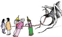 Malaria's defiant act