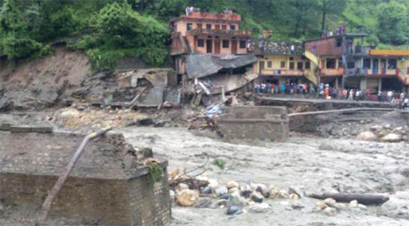 Gangotri bridge in Uttarkashi damaged due to flash flood in August