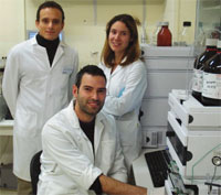 (From left to right) Researchers Juan Pedro Arrebola, Francisco Artacho and María Fernandez say this is the first study to explore the association between pesticide exposure and Type-2 diabetes