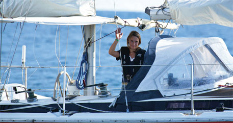 Laura Dekker of the Netherlands is the youngest person to sail solo around the world