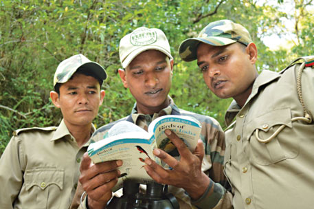 Forest guards at Mahesh Khan birdwatching camp