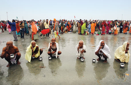 The Ganga Sagar mela, held in south of Kolkata, is the second largest in India