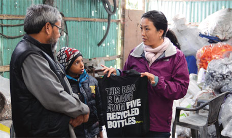 Yishey D Yongda swears by Maqbool Ahmed alias Alam (left), the only informal waste dealer in Sikkim