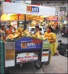 Supermarket on a cart