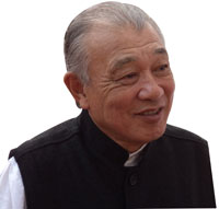 Yohei Sasakawa, chairperson of The Nippon Foundation and WHO goodwill ambassador for  leprosy elimination
