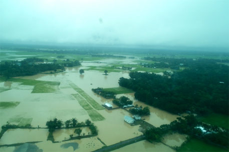 Flood and devastation sweep Assam, Meghalaya