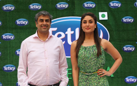 Bollywood actress Kareena Kapoor, Tetley's brand ambassador, at a promotional event in January this year