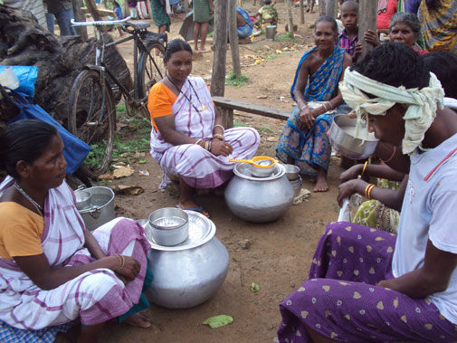 The popular adivasi food and drink