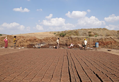 Brick kilns destroying fertile top soil