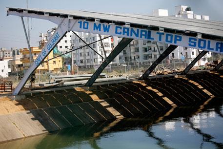 Sunny Gujarat builds solar plant atop Sardar Sarovar canal