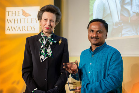Indian conservationist wins prestigious Whitley Award