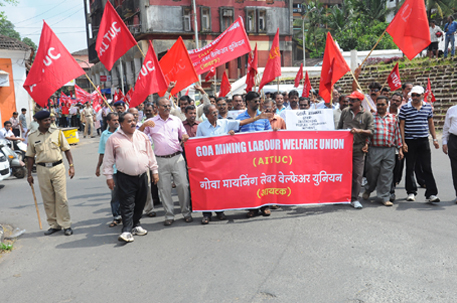 Goa mine workers take to the streets