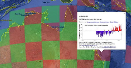 150 years of global temperature data now on Google Earth