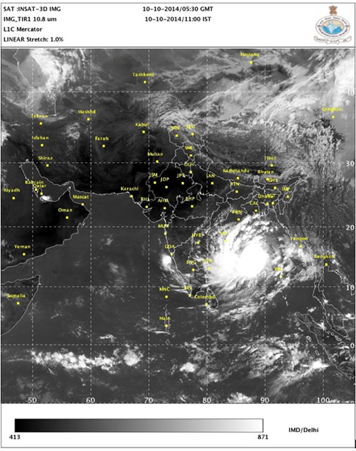 Hudhud death toll mounts to 35