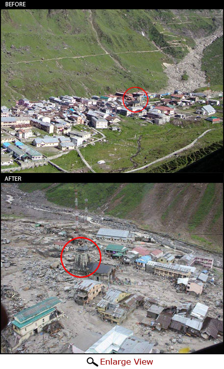 Temple town to ghost town: Kedarnath before and after flash flood