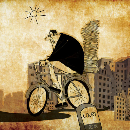 Are lawyers game for cycling to court?