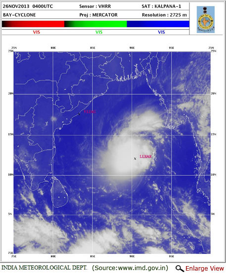 Lehar to intensify into very severe cyclonic storm