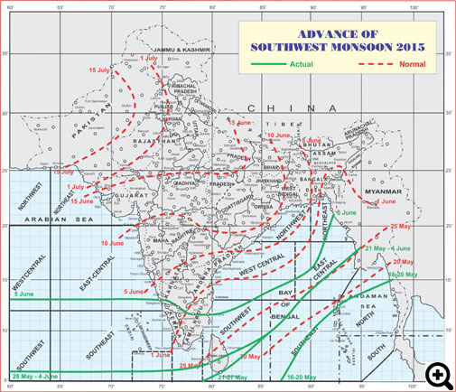 Southwest monsoon reaches Kerala