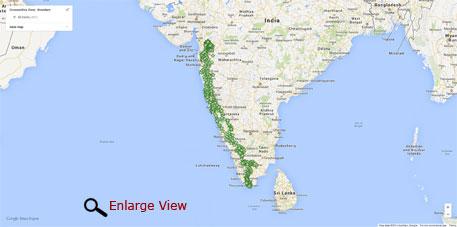 Western Ghats On Map Western Ghats Map | ww...