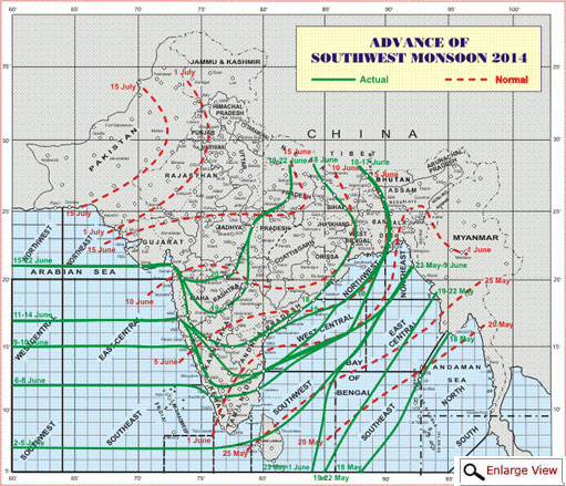 Monsoon makes some progress, keeps half of India waiting