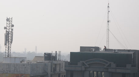 Radiation level norms for cell phone towers in most countries, including India, are way above the safe limits and have adverse impacts on human health (photo by Meeta Ahlawat)
