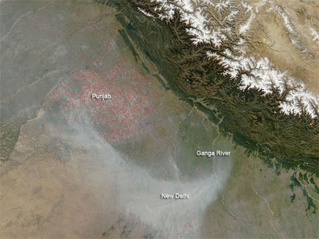 NASA draws attention to fires in Punjab fields
