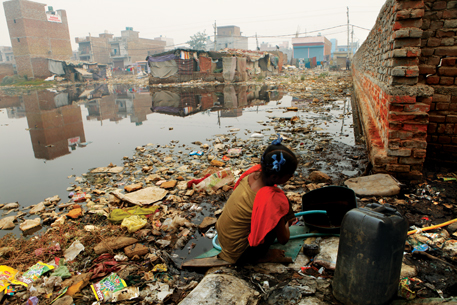 75% of India's surface water is polluted by human and agricultural waste and industrial effluents. Reports say lack of sanitation is the key reason for child malnutrition
