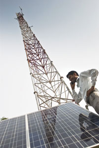 Government has suggested powering half the telecom towers in rural areas by hybrid electricity by 2015